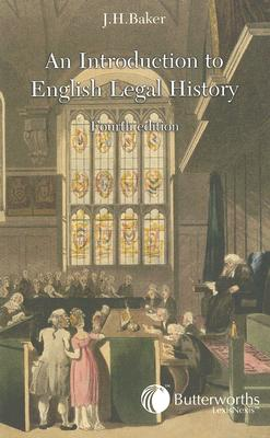 An Introduction to Legal History By Baker, John Hamilton